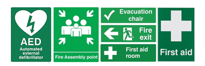 Green-Colored Safety Signage