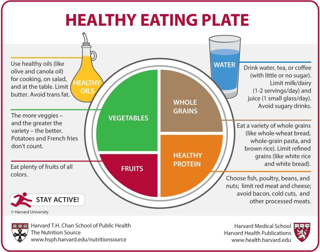 Healthy portions of food per meal